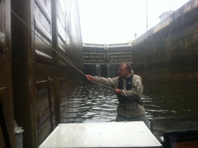 Dave holding us in Lock #1